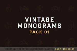 15 Vintage Monograms Pack 01