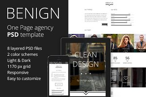 Benign - Agency PSD template