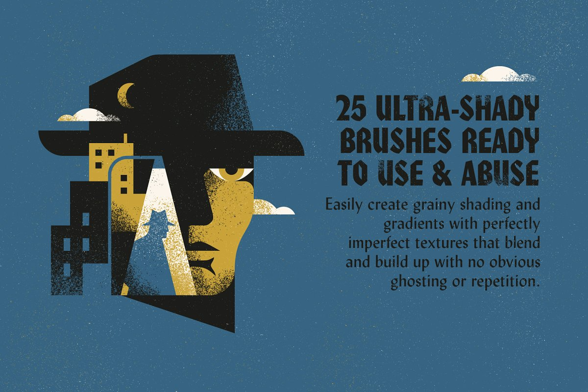 Grain Shader Brushes For Illustrator ~ Illustrator Add-Ons
