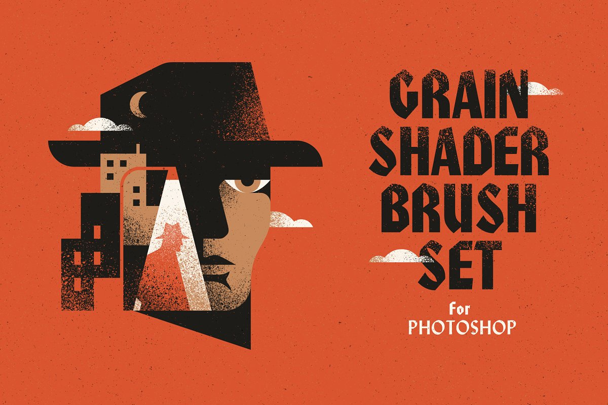 Grain Shader Brush Set for Photoshop ~ Photoshop Add-Ons ~ Creative