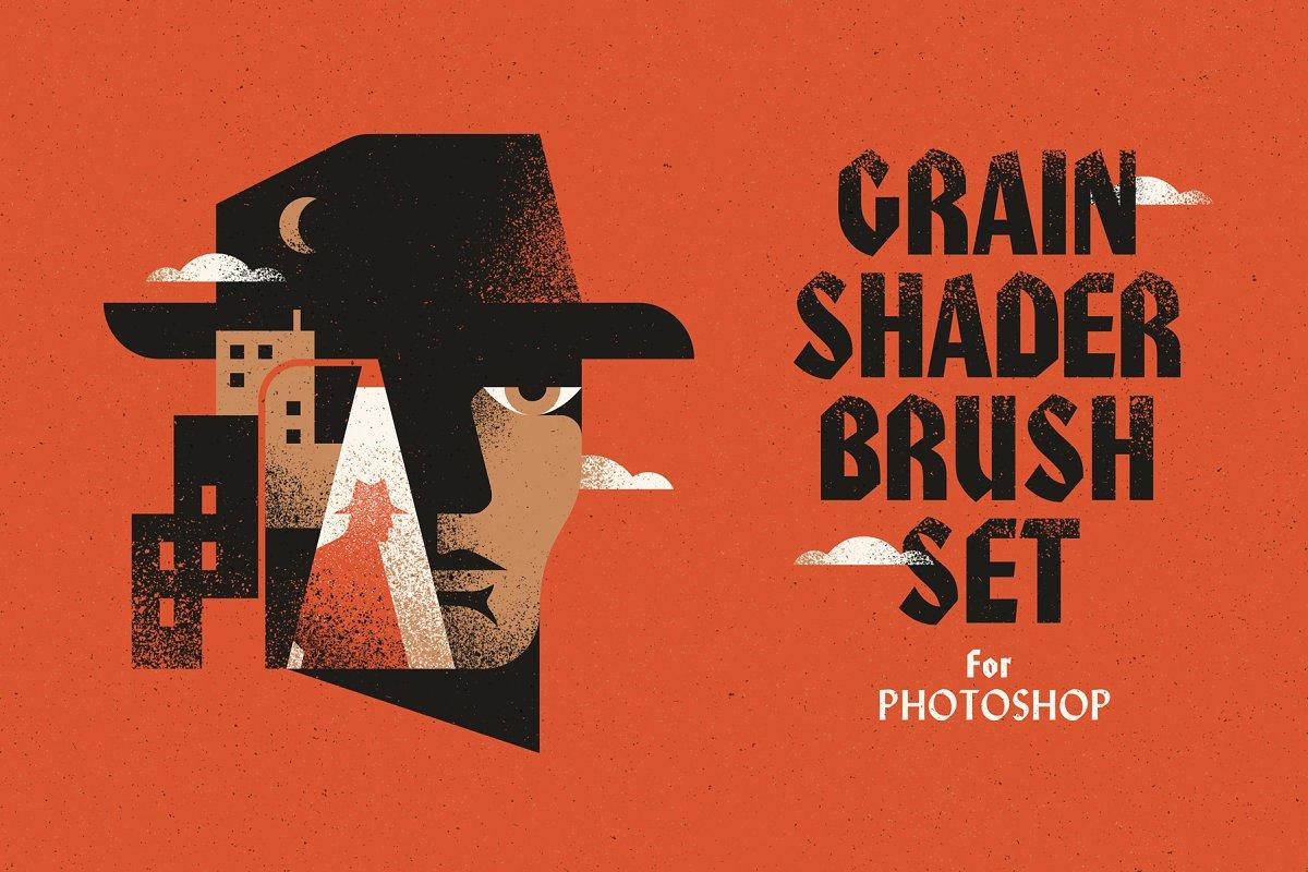 Grain Shader Brush Set for Photoshop ~ Photoshop Add-Ons ~ Creative