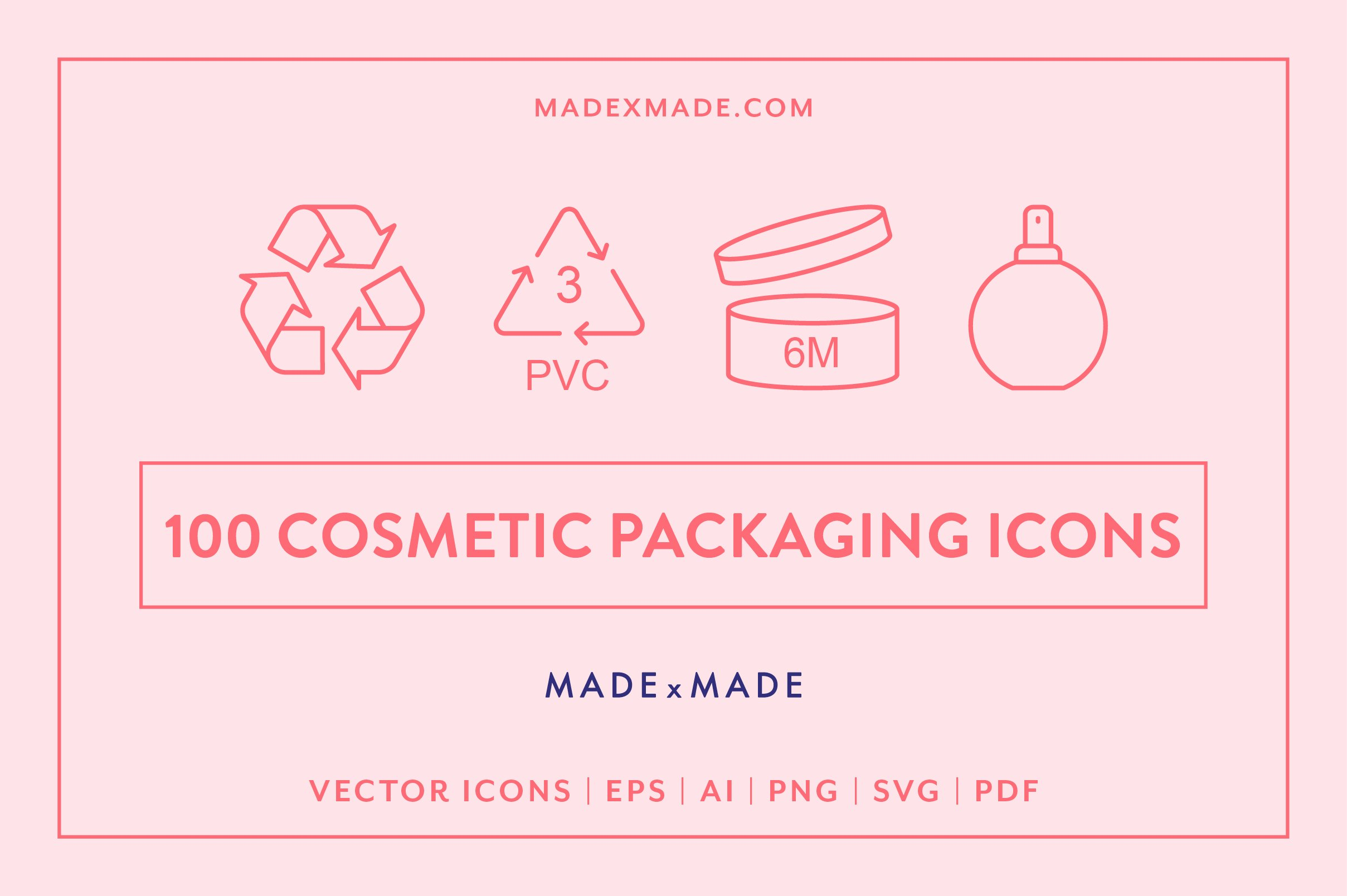 Line Icons – Cosmetic Packaging ~ Icons ~ Creative Market