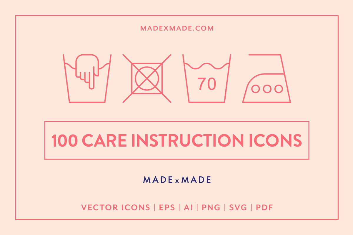 Line Icons – Care Instructions