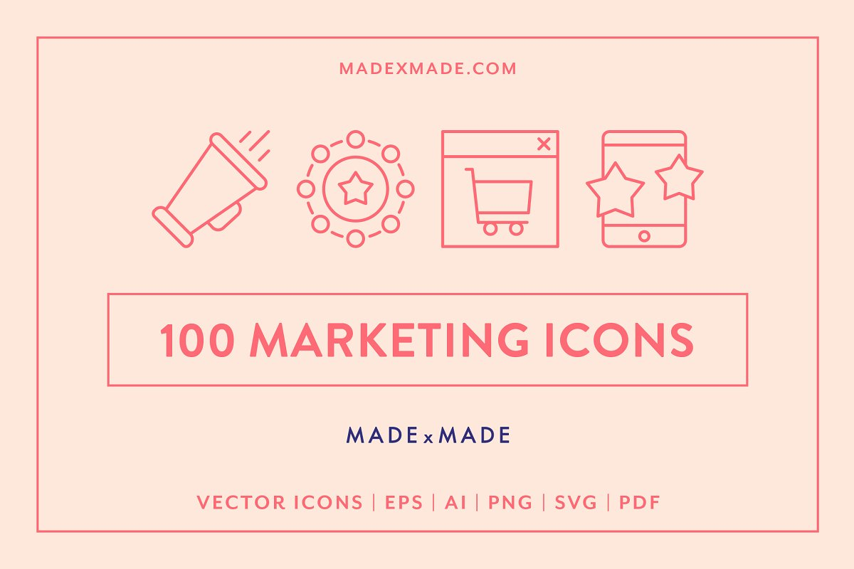 Line Icons – Marketing