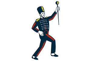 Drum Major Marching Band Leader Wood