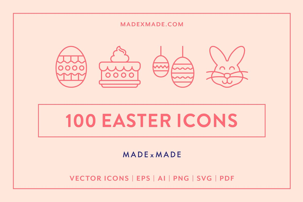 Line Icons – Easter