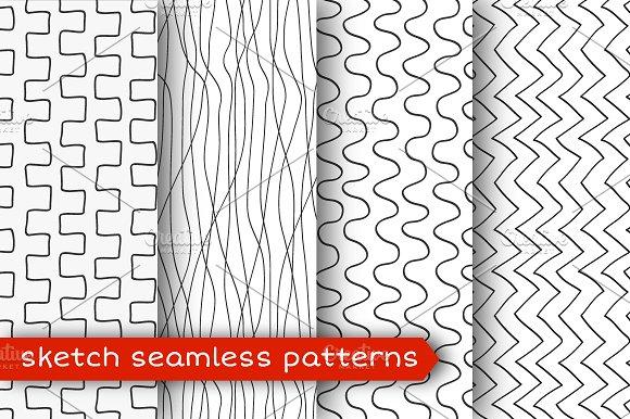 sketch seamless pattern set graphic patterns creative market