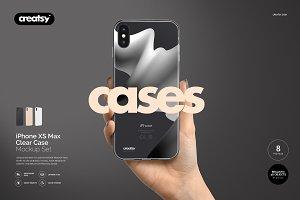 iPhone XS Max Clear Case Mockup Set