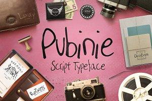 Pubinie Script Typeface