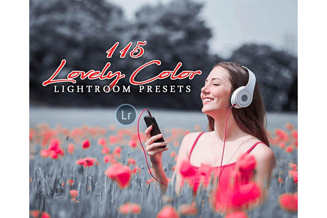 preview 115 Lovely Color Lightroom Presets - CreativeMarket 3218801