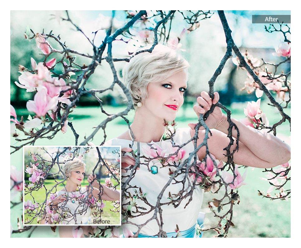 preview 2 115 Lovely Color Lightroom Presets - CreativeMarket 3218801