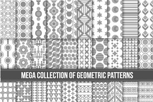 Collection of 40 seamless patterns