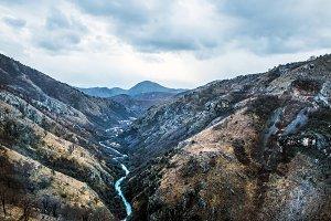 The canyon of Tara river