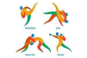 Judo Taekwondo Boxing Wrestiling Ico