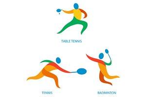 Table Tennis Badminton Icon