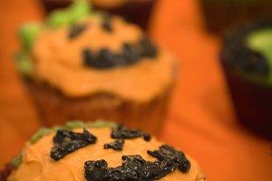 Pumpkin halloween cupcakes