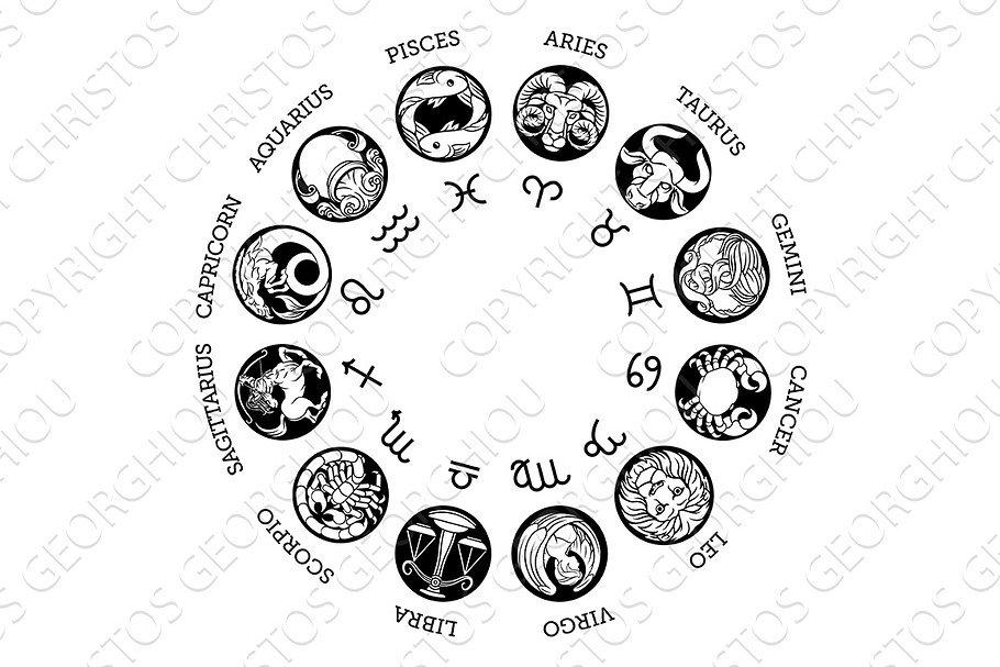Astrological horoscope zodiac star