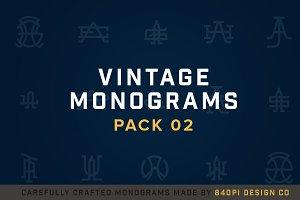 15 Vintage Monograms Pack 02