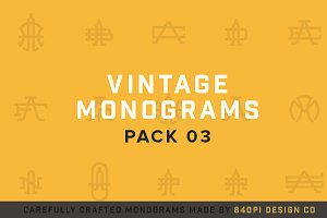 15 Vintage Monograms Pack 03