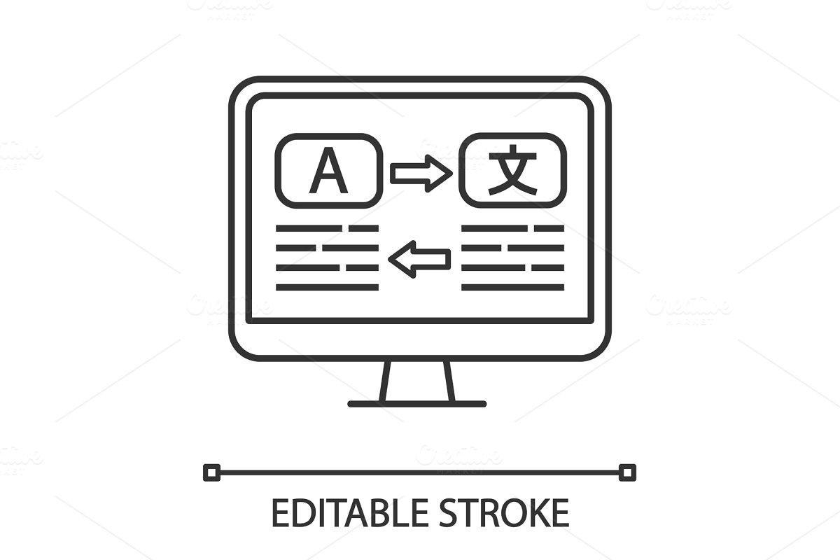 Language translation linear icon