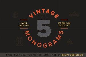 5 Vintage Monograms Samples