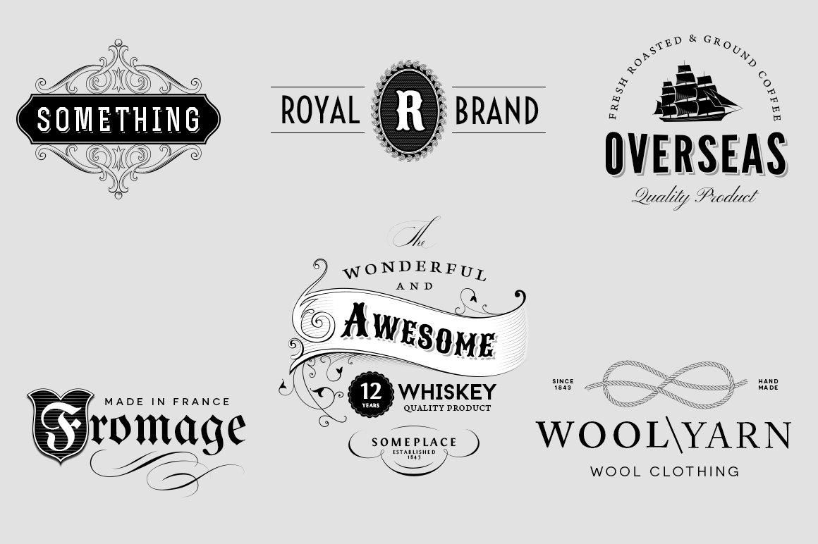 Vintage Logo Insignia Set 3 Templates Creative Market