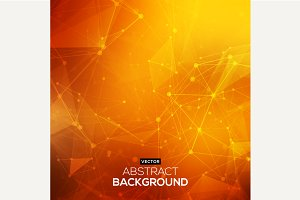 Abstract polygonal orange background
