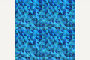 Blue seamless triangle background