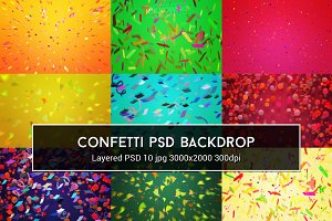 Confetti PSD Backdrop