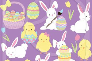 easter bunny clipart commercial use