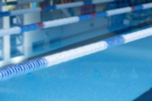 unfocused lane marker and pool