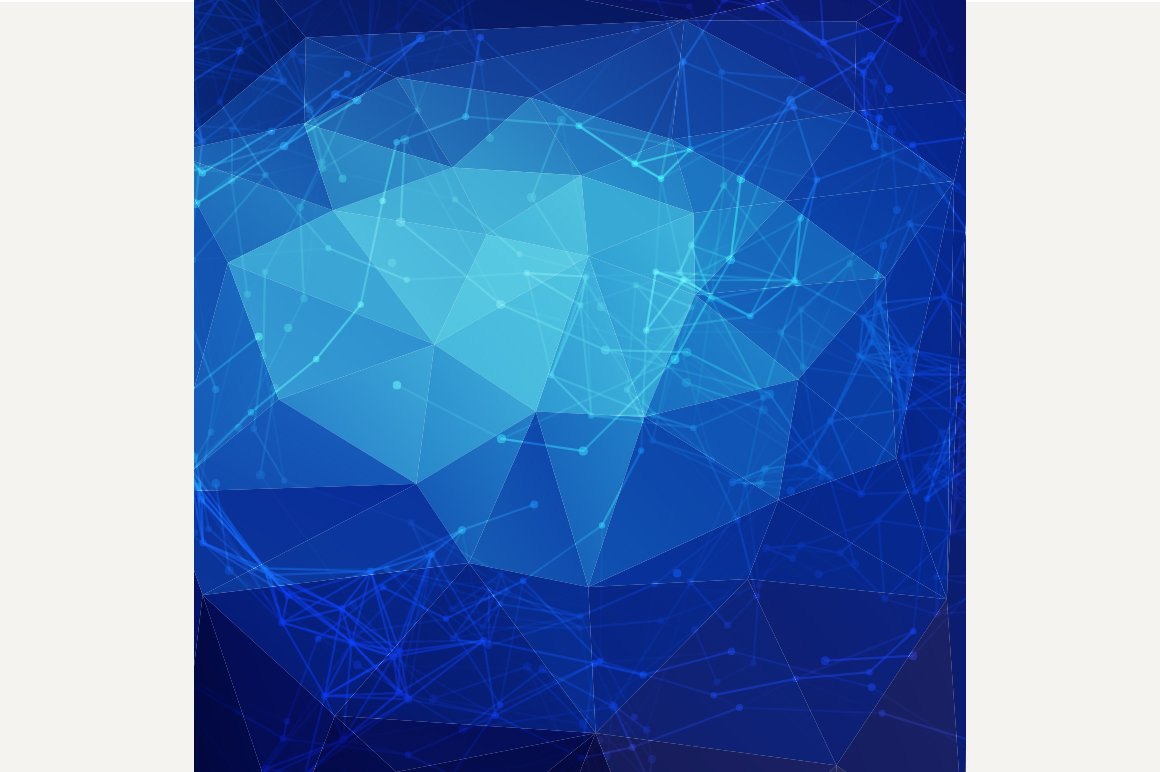 Abstract Blue Low Poly Background Graphics Creative Market
