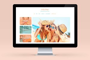Girly Theme - Wordpress Blog E-com