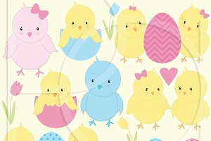chick bird clipart commercial use