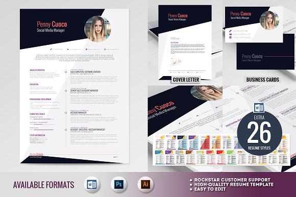 askella premium resume template resume templates creative market
