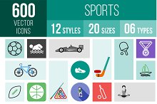 600 Sports Icons