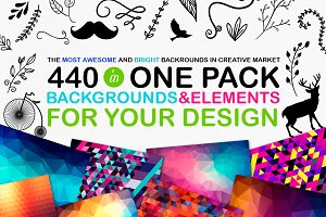 440 BACKGROUNDS & ELEMENTS (60% OFF)