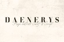 DAENERYS Font. Special Price - 8$ by  in Serif Fonts