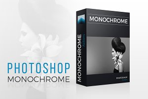 Monochrome Photoshop actions set