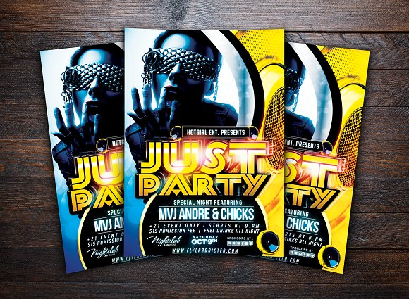 Just Party Flyer