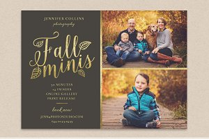 Fall minis marketing board template