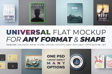 Universal Flat Mockup - Any Format by  in Print