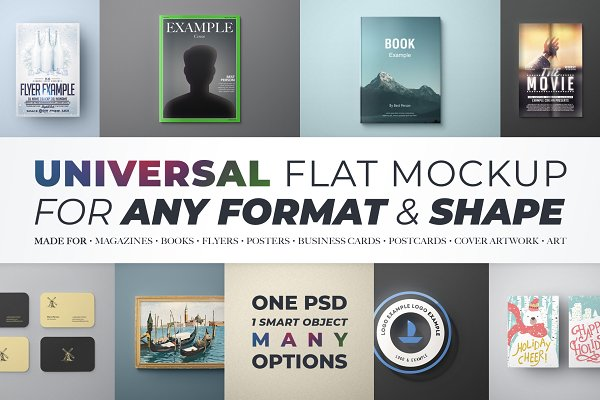 Print Mockups: FEINGOLD Shop - Universal Flat Mockup - Any Format