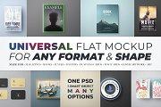 Universal Flat Mockup - Any Format