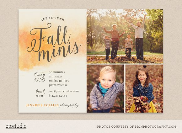 fall mini session template flyer templates creative market