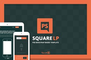 """Square"" PSD Boostrap based template"