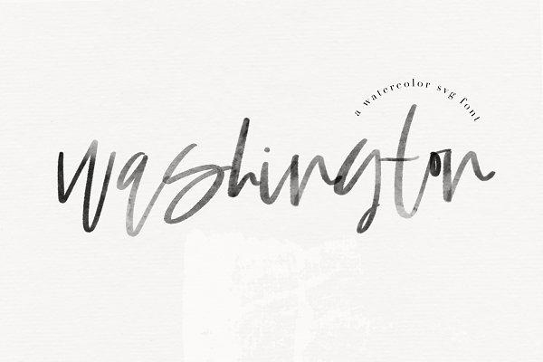 Script Fonts: KA Designs - Washington - SVG & Solid Script Font