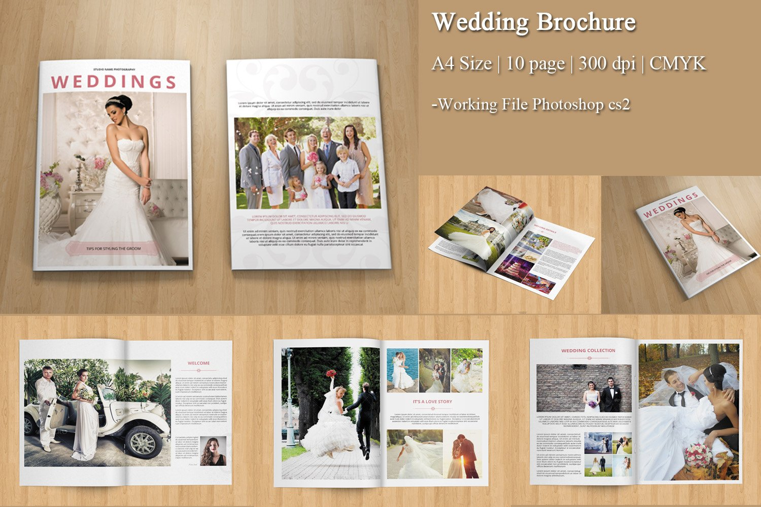 Wedding photography brochure v157 brochure templates for Photography brochure templates free