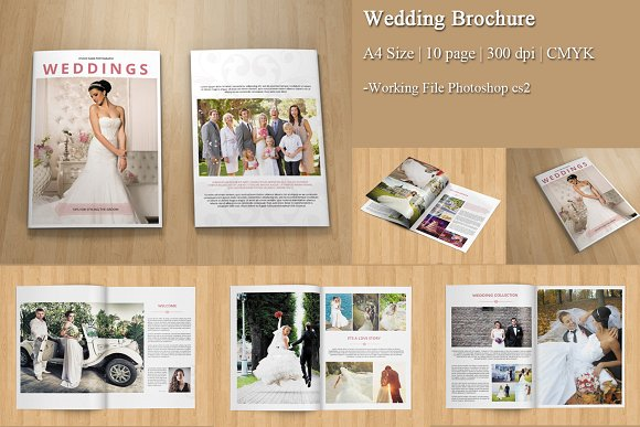 Wedding Photography BrochureV Brochure Templates Creative - Wedding brochure templates