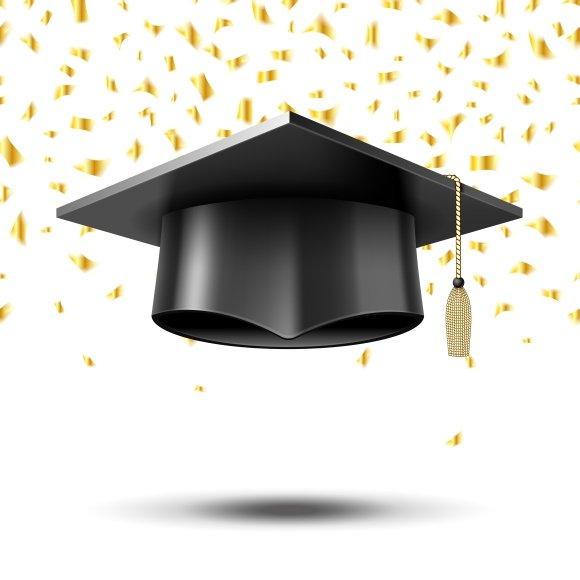 graduation cap graphics creative market. Black Bedroom Furniture Sets. Home Design Ideas